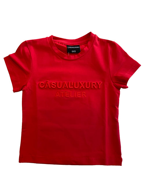 Red Embroidery T Enfant