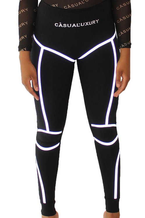 Reflective Tights Noire