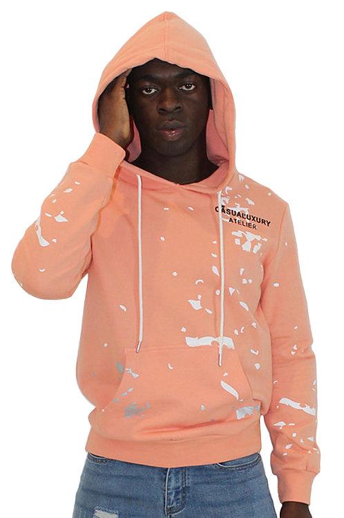 Pink Painted Hoodie