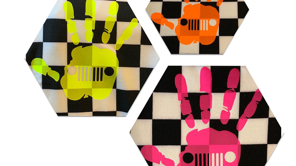 Checkered Neon Jeep Wave Leggings