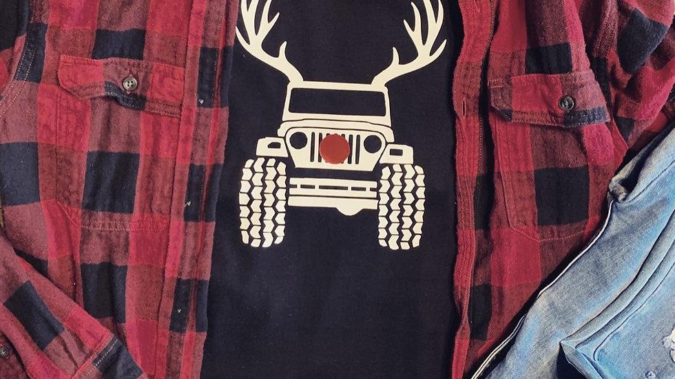 Jeep Reindeer Long Sleeve T-Shirt
