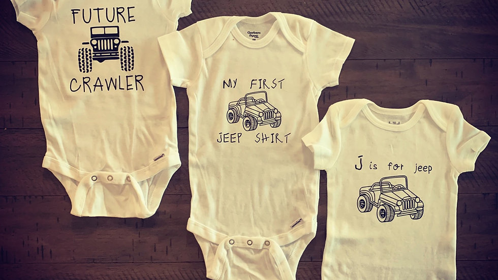 Baby Jeep Onesies Bundle