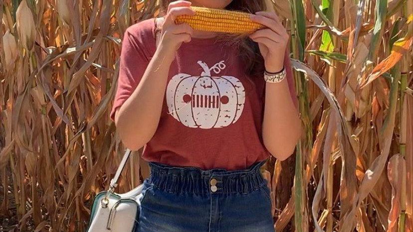 Fall Pumpkin Jeep T-Shirt