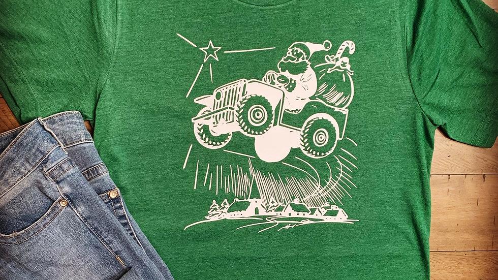 Santa Jeep T-Shirt