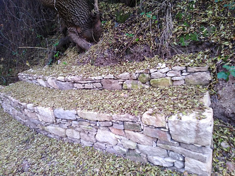 Dry Stone Wall onthe Nature Walk towards
