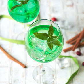 Cocktail matcha pétillant