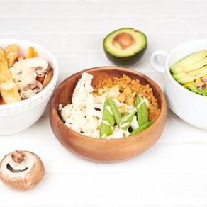 Three easy vegan Buddah bowls