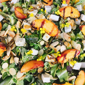 Grilled Peach Garden Salad
