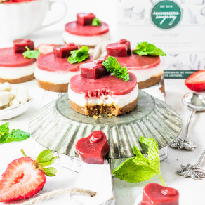 Mini-gâteaux au fromage aux fraises