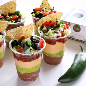 Cheesy Layered Bean Dip