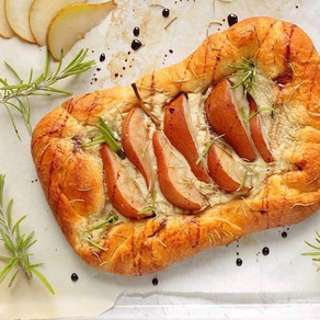 Easy Vegan Pear & Creamy Swiss Galette