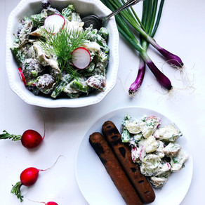Picnic Potato Salad with Horseradish Dill Fauxmage