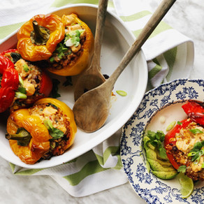 Cheesy Plant-Based Stuffed Peppers