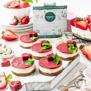 Strawberry Double Crème Mini Cheesecakes