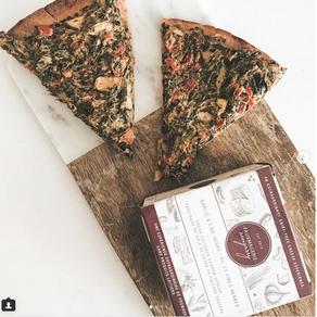 Pizza aux courgettes et aux épinards de michiemango d'Instagram
