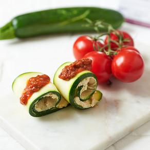 Roulés de courgettes avec sauce marinara (sans cuisson)
