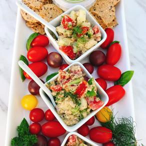 Quinoa salad with creamy avocado Garlic & Fine Herbs dressing