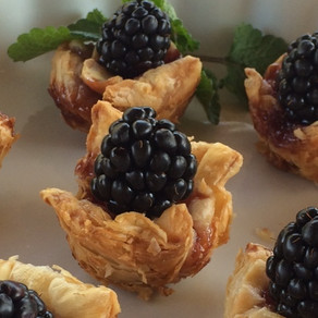 Blackberry Brie Bites