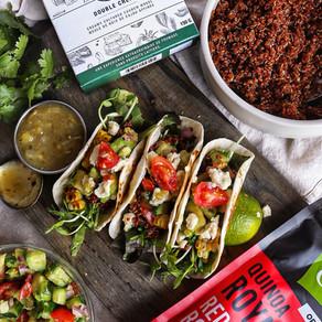Taco de quinoa au citron vert et chipotle