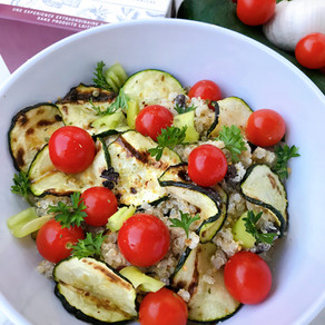Quinoa Salad With Grilled Zucchini and Garlic & Fine Herbs