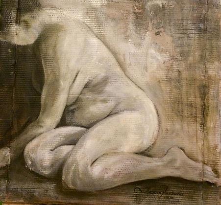 Melancolia, 81 x 86cm, Técnica Mista sobre papelão