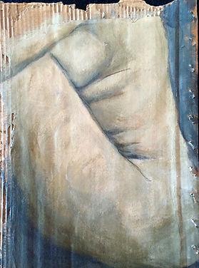 Fragmentos 2….50 X 38 cm, Técnica mista sobre papelão ondulado