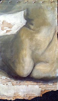 Fragmentos 1….50 X 32 cm, Técnica mista sobre papelão ondulado