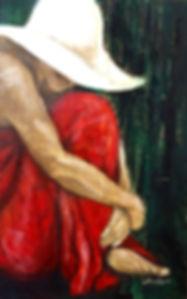 ...de Canga Vermelha, 80 x 45cm, Técnica Mista sobre Papelão