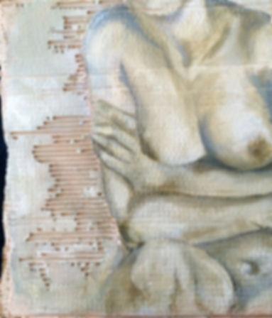 Fragmentos 3….52 X 45 cm, Técnica mista sobre papelão ondulado