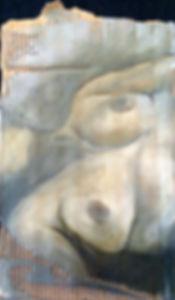 Fragmentos 5 … 50 X 32 cm, Técnica mista sobre papelão ondulado