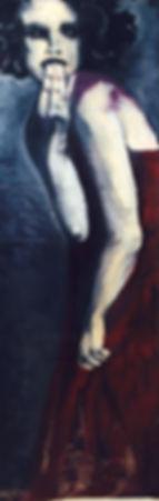 Surpresa… 130 x 55 cm, Técnica mista sobre papelão ondulado