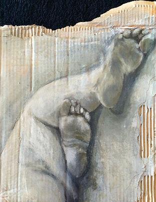 Fragmentos 4….41 X 36 cm, Técnica mista sobre papelão ondulado