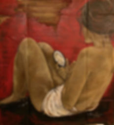 Solitude, 89 x 81cn, Técnica Mista sobre papelão