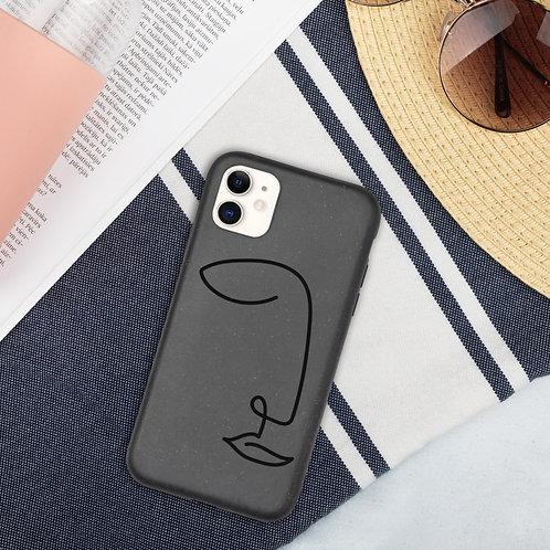 Line Art Face - Biodegradable phone case
