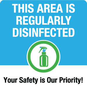Regularly Disinfected