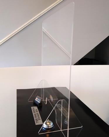Freestanding Reception Shield
