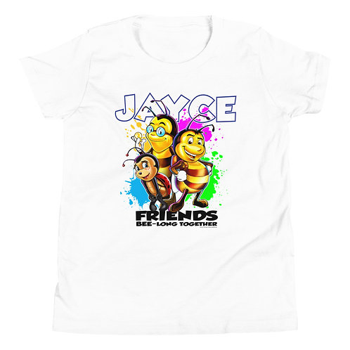 JAYCE THE BEE: Friends Bee-long Together Youth Short Sleeve T-Shirt