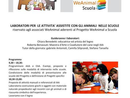LABORATORI PER  LE ATTIVITA' ASSISTITE CON GLI ANIMALI  NELLE SCUOLE