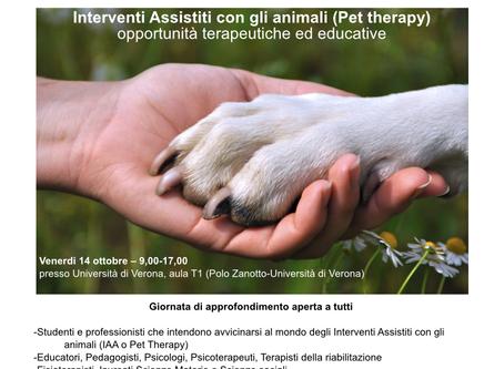 Convegno sugli Interventi Assistiti con gli Animali 14 ottobre 2016 - Università di Verona