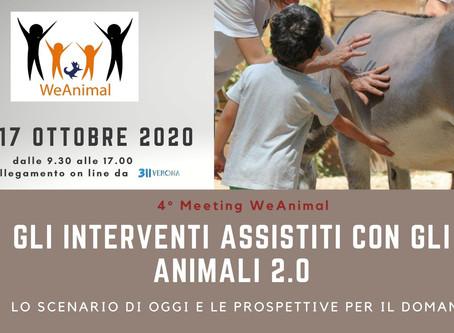 MEETING WEANIMAL 2020 -  GLI INTERVENTI ASSISTITI CON GLI ANIMALI 2.0