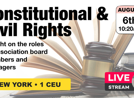 August 6 LiveStream: NY • Constitutional & Civil Rights • 1 CEU