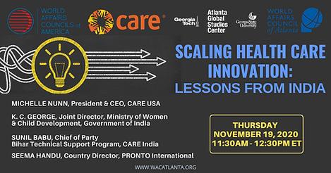 SCALING HEALTH CARE INNOVATION Nov 19 20