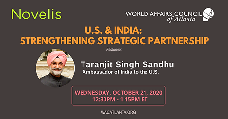 Indian Amb to the US Sandhu Oct 21 2020