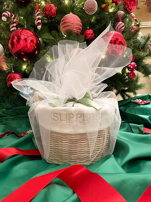 Slippers Basket Natural as Gift