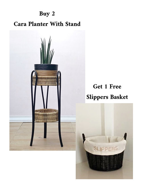2 Cara + Free Slippers Basket