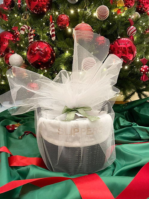 Slippers Basket Black as Gift