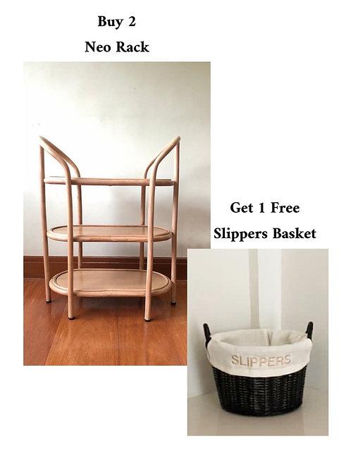 2 Neo Rack + Free Slippers Basket