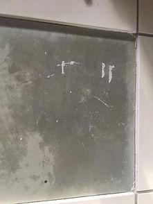 Tile De-lamination- no adhesve bonded tile injectio