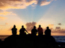 Kaena Sunset with ppeople silhouette.jpe