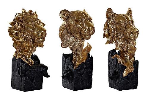 Statuette Loup / Lion / Léopard